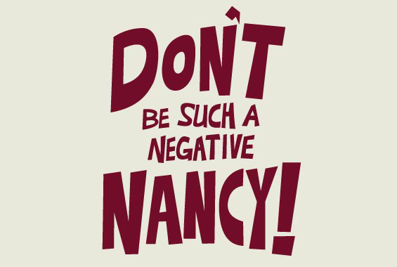 Image result for stop being negative